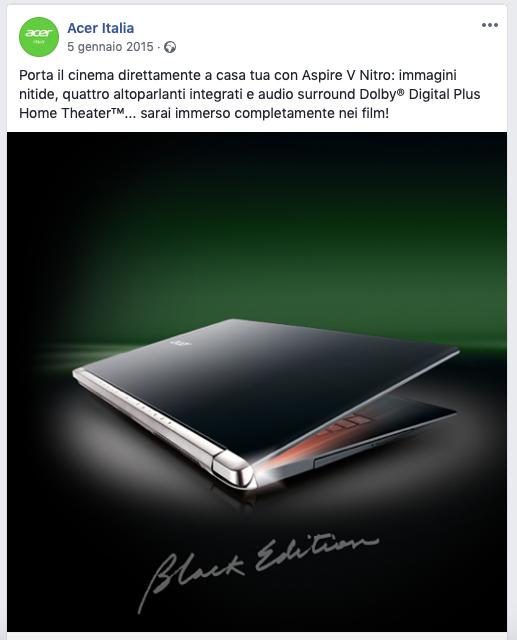 Germana Galleri | social media strategy_Acer Italia